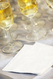 Blank Wedding napkin Royalty Free Stock Image
