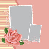 Blank wedding photo frame or postcard Royalty Free Stock Image