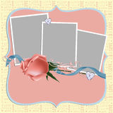 Blank wedding photo frame or postcard Stock Images