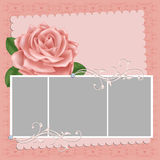 Blank wedding photo frame or postcard Royalty Free Stock Photo