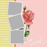 Blank wedding photo frame or postcard Stock Photos