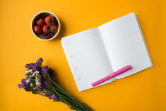 Blank weekly planner Royalty Free Stock Photography