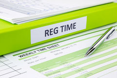 Blank weekly time sheets for recording royalty free stock photo