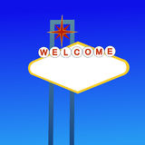 Blank welcome sign Stock Photo