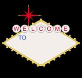 Blank welcome to Las Vegas sign Stock Photo