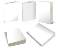 Free Blank White 3-d Books Stock Image - 47364201