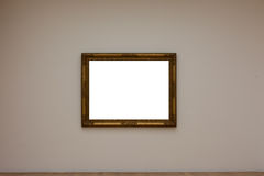 Blank White Art Gallery Frame Picture Wall White Contemporary Mo Royalty Free Stock Images