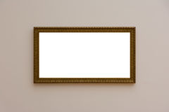 Blank White Art Gallery Frame Picture Wall White Contemporary Mo Stock Photography