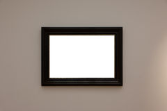 Blank White Art Gallery Frame Picture Wall White Contemporary Mo Royalty Free Stock Photo