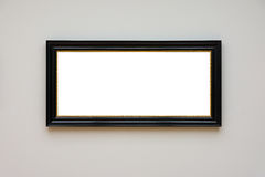 Blank White Art Gallery Frame Picture Wall White Contemporary Mo Stock Images