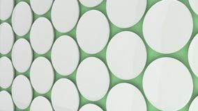Blank white badge on green background. Pin button mockup. 3D rendering illustration Royalty Free Stock Photos