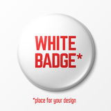 Blank white badge template Stock Photography