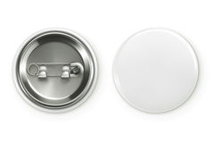 Blank white badge. Vector realistic illustration,  on white background Royalty Free Stock Image