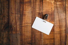 Blank white badge Royalty Free Stock Photography