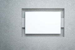 Blank white banner Royalty Free Stock Images