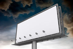 Blank white billboard Royalty Free Stock Photos
