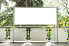 Blank white billboard for advertisement on street. Blank white billboard for advertisement on street Stock Images