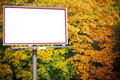 Blank white billboard at the park Royalty Free Stock Photos
