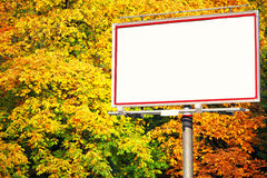 Blank white billboard at the park Stock Image