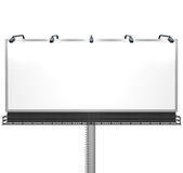 Blank White Billboard Ready for Your Message Royalty Free Stock Image