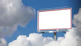 Blank white billboard on sky for  advertisement Stock Photography