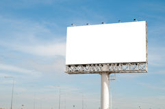 Blank white billboard useful for new advertisement Royalty Free Stock Images