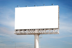 Blank white billboard useful for new advertisement Royalty Free Stock Image