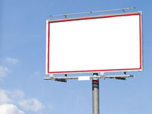 Blank white billboard for your advertisement Royalty Free Stock Photo