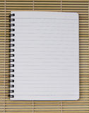 Blank white blue line paper realistic spiral notepad notebook on Stock Images