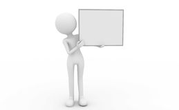 Blank white board Stock Photography