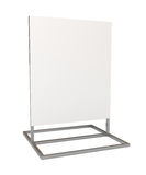 Blank white board for advertisement, isolated. On white, 3d illustration Royalty Free Stock Image
