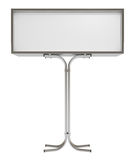 Blank white board for advertisement, isolated Royalty Free Stock Photography