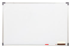 Blank white board isolated stock images
