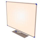 Blank white board with marker Stock Images