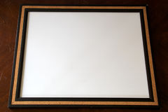 Blank white board. A blank white board surrounded with cork Royalty Free Stock Photo