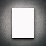 Blank White Board On Wall Stock Photos