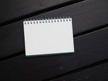 Blank white book background Stock Images
