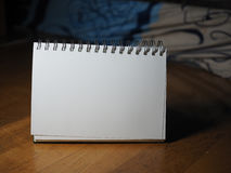 Blank white book background Royalty Free Stock Image