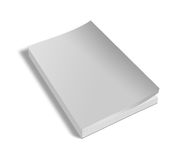 Blank white book isolated. On white with clipping path Stock Images