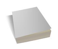 Blank white book isolated. On white with clipping path Royalty Free Stock Photography