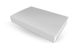 Blank white book isolated. On white with clipping path Stock Photos