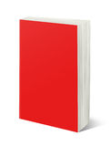Blank white book isolated. Blank red book isolated on white with clipping path Stock Image