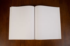 Blank White Book or Magazine Royalty Free Stock Photos