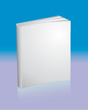 Blank white book with reflection Stock Photo