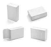 Blank white box Stock Image