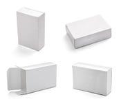 Blank white box Stock Image