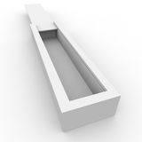Blank white box for gifts and products Stock Image