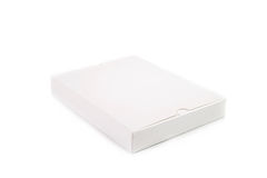Blank white box. Isolated on white background Royalty Free Stock Photography