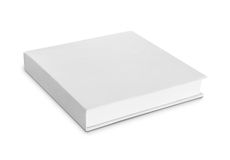 Blank white box. Isolated over white background. ready for your design Royalty Free Stock Image