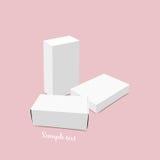 Blank white box mock up. Vector illustration Stock Images